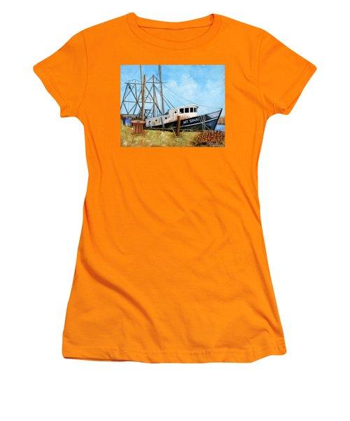 Mt. Sinai Fishing Boat Women's T-Shirt (Athletic Fit)