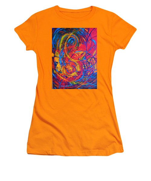Music Women's T-Shirt (Junior Cut) by Jeanette Jarmon