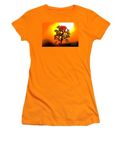 Mustard Sunset Women's T-Shirt (Athletic Fit)