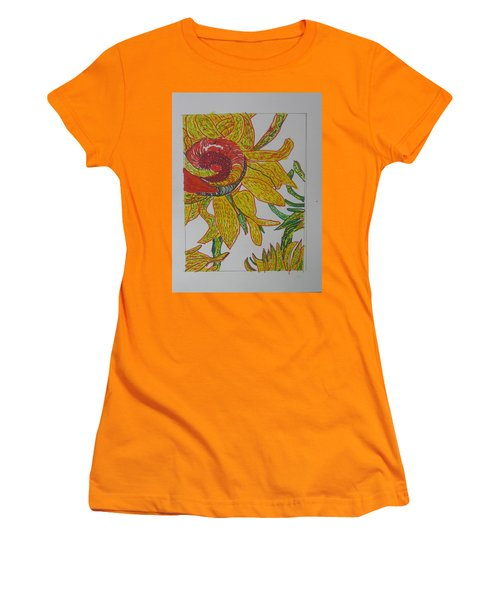 My Version Of A Van Gogh Sunflower Women's T-Shirt (Junior Cut) by AJ Brown