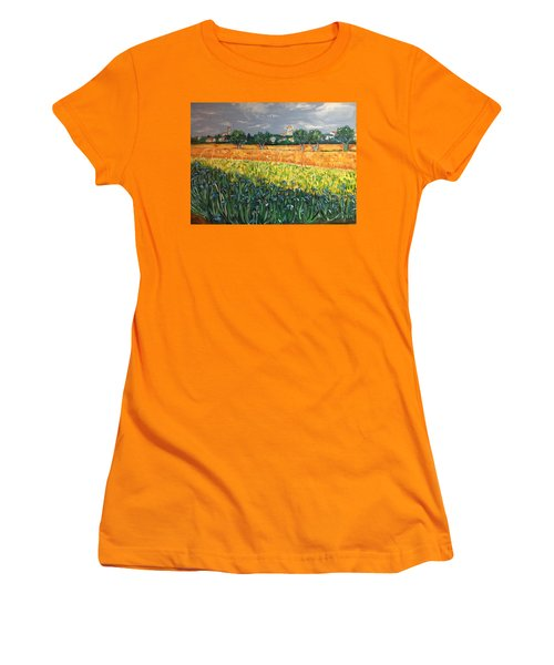 My View Of Arles With Irises Women's T-Shirt (Athletic Fit)