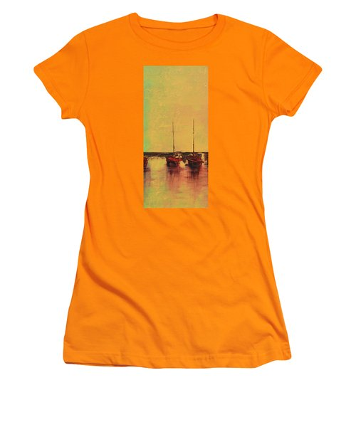Mystic Bay Triptych 2 Of 3 Women's T-Shirt (Athletic Fit)