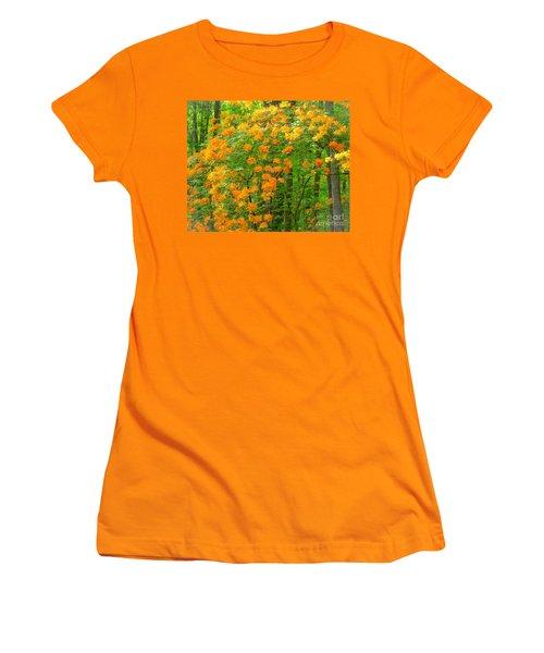 Women's T-Shirt (Junior Cut) featuring the photograph Natural Wild Azaleas  by Rand Herron