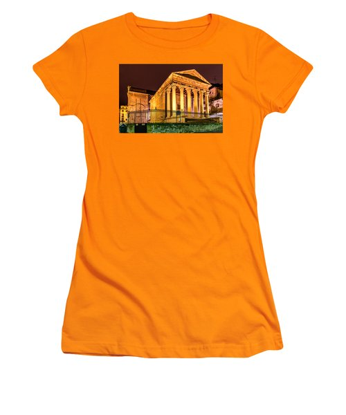Night At The Roman Temple Women's T-Shirt (Athletic Fit)