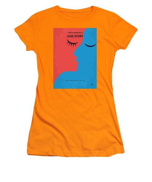 No600 My Love Story Minimal Movie Poster Women's T-Shirt (Athletic Fit)