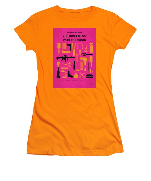 Women's T-Shirt (Junior Cut) featuring the digital art No743 My You Dont Mess With The Zohan Minimal Movie Poster by Chungkong Art