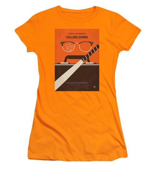 Women's T-Shirt (Junior Cut) featuring the digital art No768 My Falling Down Minimal Movie Poster by Chungkong Art