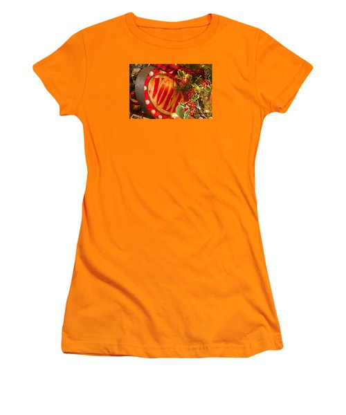 Women's T-Shirt (Junior Cut) featuring the photograph Noel Sign by Vinnie Oakes