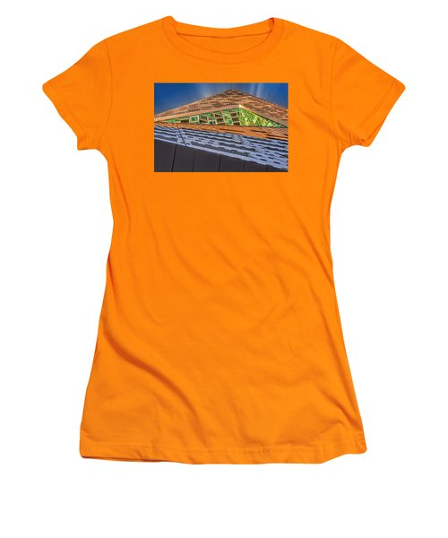 Women's T-Shirt (Junior Cut) featuring the photograph Nyc West 57 St Pyramid by Susan Candelario