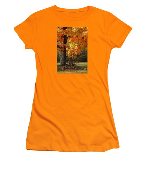 October Day Women's T-Shirt (Junior Cut) by Diane E Berry