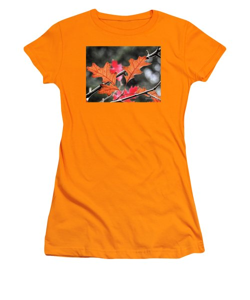 Women's T-Shirt (Athletic Fit) featuring the photograph October by Peggy Hughes