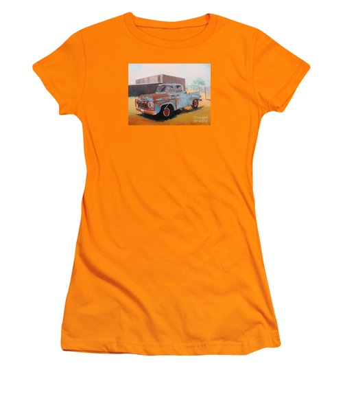 Old Blue Ford Truck Women's T-Shirt (Athletic Fit)