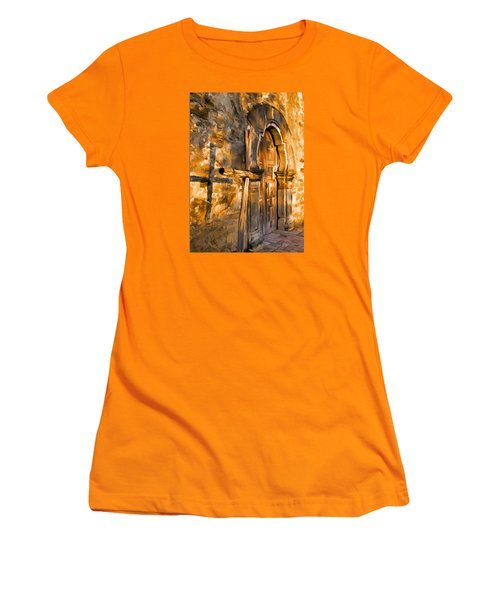 Women's T-Shirt (Junior Cut) featuring the photograph Old Mission Cross by Dennis Cox WorldViews