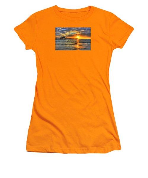 On Fire Women's T-Shirt (Junior Cut) by Sharon Batdorf