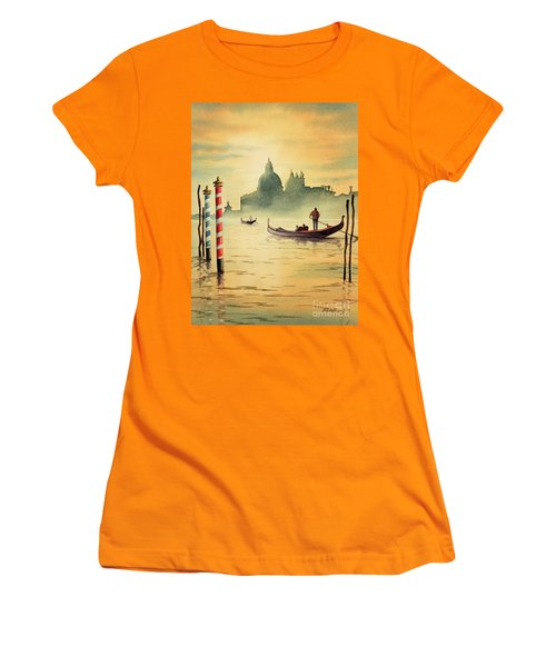 On The Grand Canal Venice Italy Women's T-Shirt (Junior Cut) by Bill Holkham