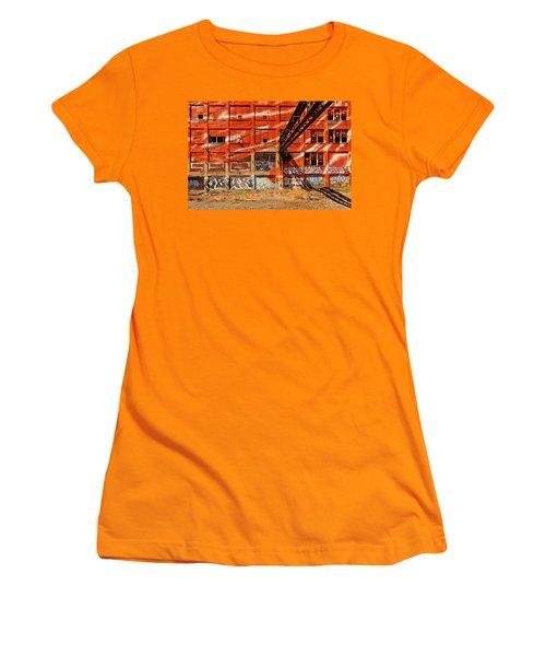 Orange  Women's T-Shirt (Athletic Fit)
