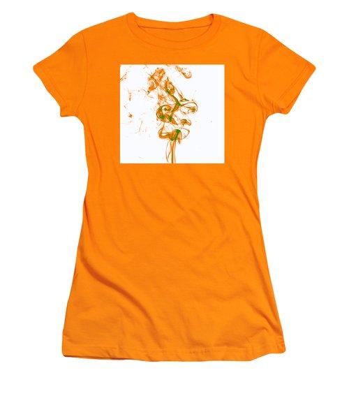 Orange And Green Women's T-Shirt (Junior Cut) by Rainer Kersten