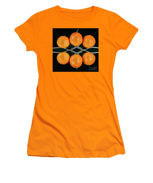 Orange Balance Women's T-Shirt (Junior Cut) by Shirley Mangini