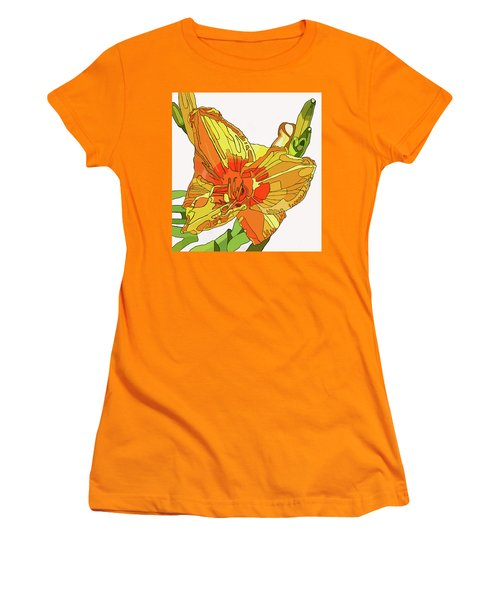 Orange Canna Lily Women's T-Shirt (Junior Cut) by Jamie Downs