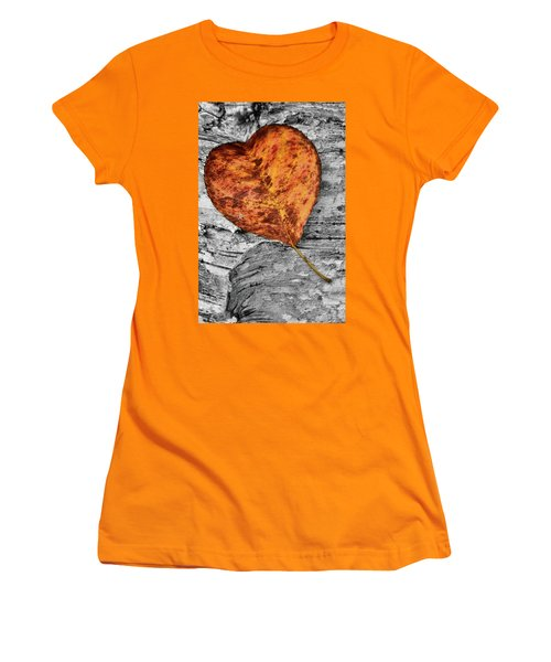 Orange Leaf Women's T-Shirt (Athletic Fit)