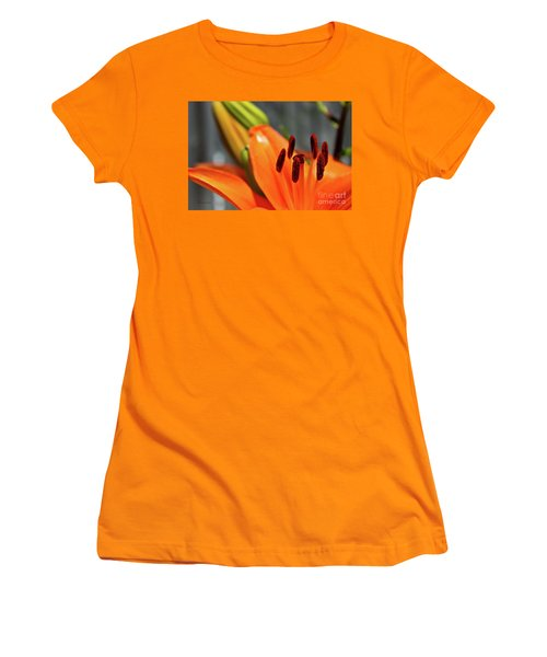 Orange Lily Close Up Women's T-Shirt (Athletic Fit)