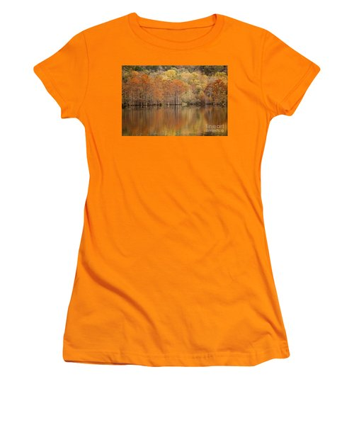 Women's T-Shirt (Junior Cut) featuring the photograph Orange Pool by Iris Greenwell