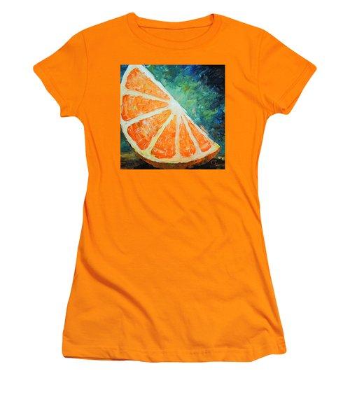Orange Slice Women's T-Shirt (Athletic Fit)