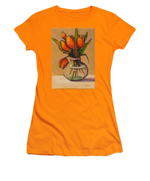 Orange Tulips Women's T-Shirt (Athletic Fit)