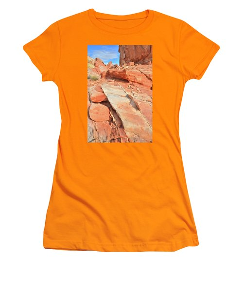 Orange Valley In Valley Of Fire Women's T-Shirt (Junior Cut) by Ray Mathis