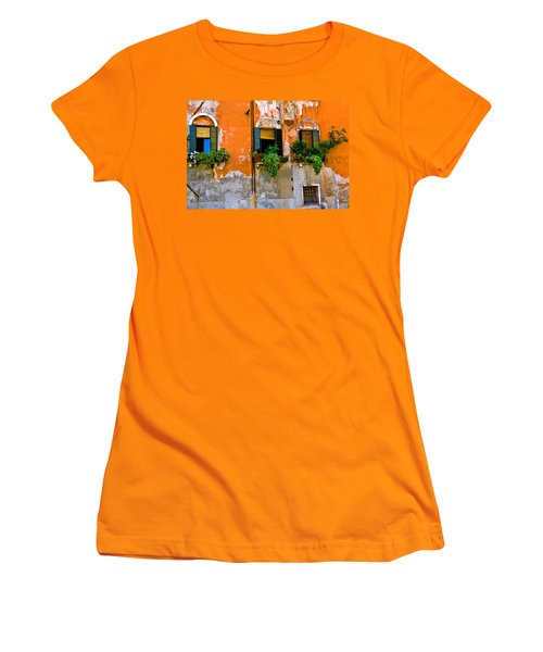 Orange Wall Women's T-Shirt (Junior Cut) by Harry Spitz