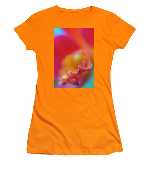 Orchid Detail Women's T-Shirt (Athletic Fit)