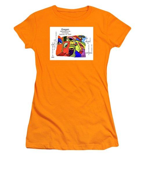 Oregon Women's T-Shirt (Athletic Fit)
