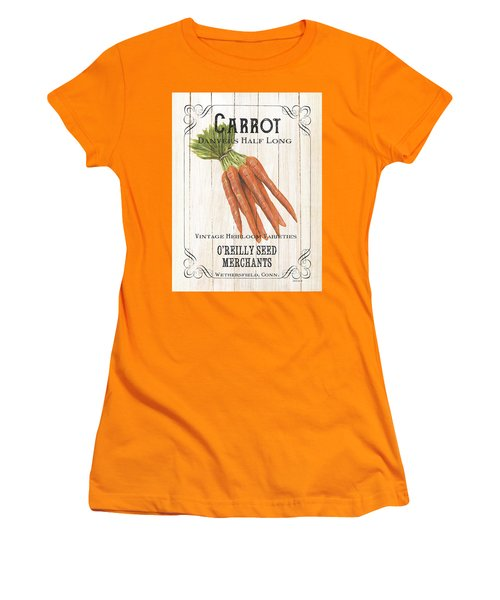 Women's T-Shirt (Junior Cut) featuring the painting Organic Seed Packet 2 by Debbie DeWitt