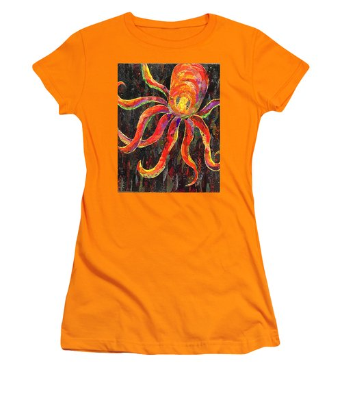Otis The Octopus Women's T-Shirt (Athletic Fit)