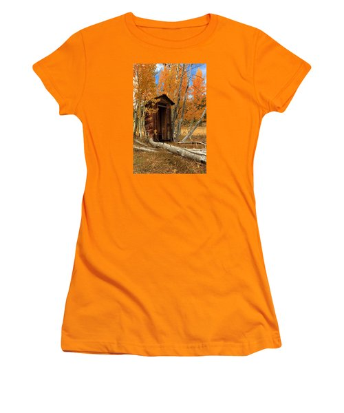 Outhouse In The Aspens Women's T-Shirt (Junior Cut) by James Eddy