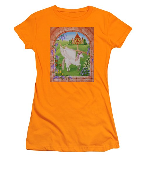 Outside The Window Women's T-Shirt (Athletic Fit)