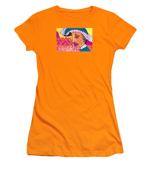 Women's T-Shirt (Junior Cut) featuring the painting Pagliacci Tuscany by Don Koester