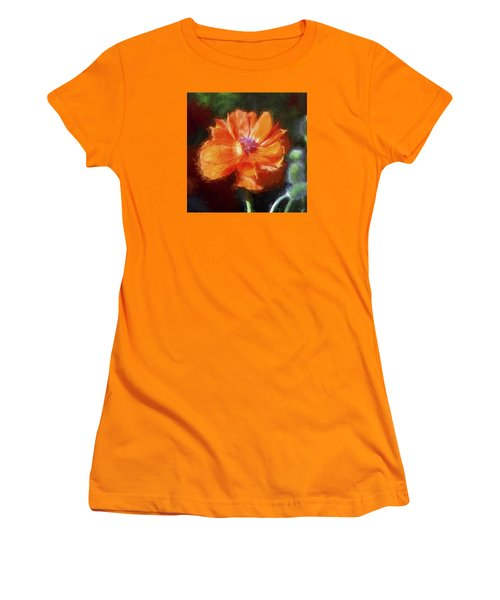 Painted Poppy Women's T-Shirt (Junior Cut) by Christina Lihani