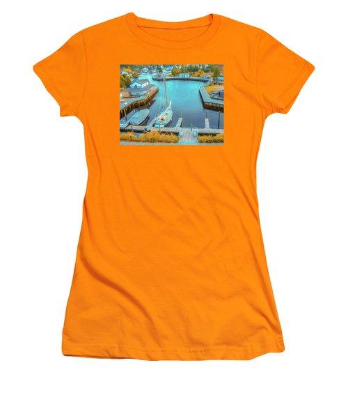 Painterly Tuckerton Seaport Women's T-Shirt (Athletic Fit)