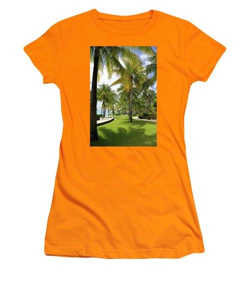 Palm Trees 2 Women's T-Shirt (Junior Cut) by Sharon Jones