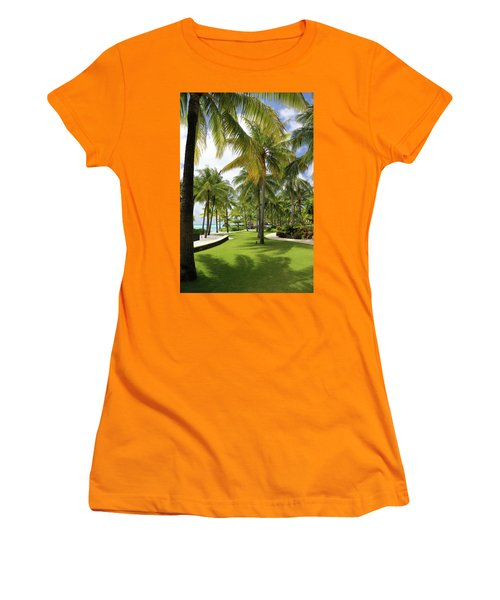 Palm Trees 2 Women's T-Shirt (Athletic Fit)