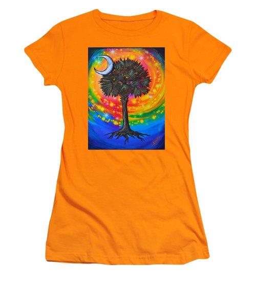 Palmetto Tree Of Life Women's T-Shirt (Junior Cut) by Agata Lindquist