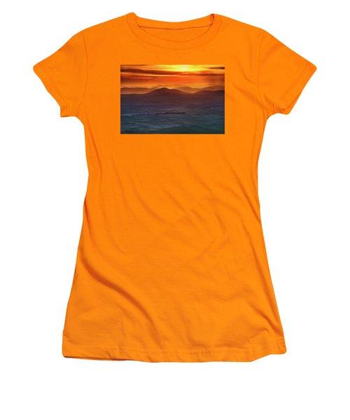 Palouse Sunrise  Women's T-Shirt (Junior Cut) by Ronald Spencer