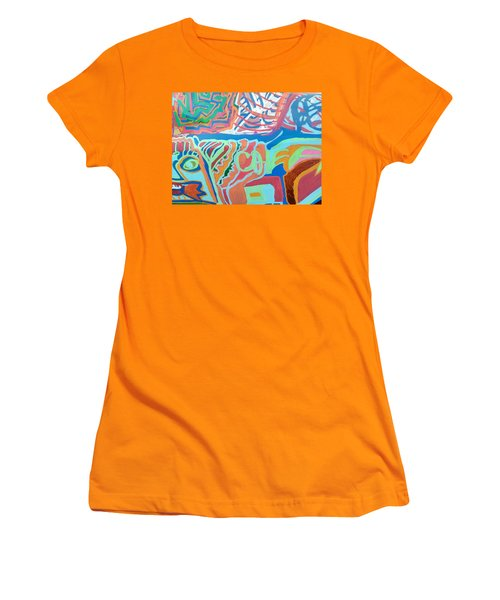 Panel On Hand Painted Ford Mondeo Women's T-Shirt (Athletic Fit)