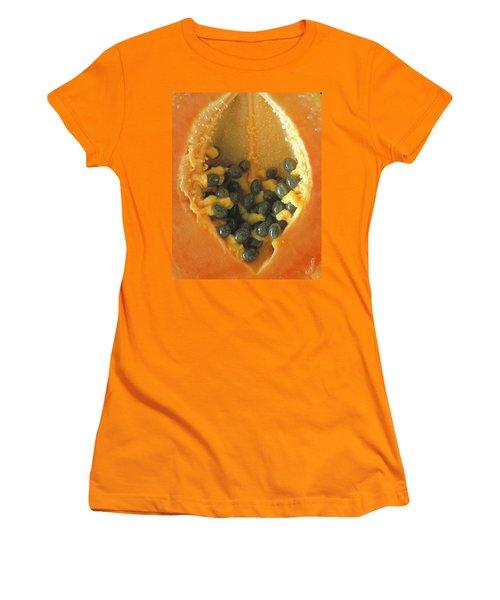 Papaya Women's T-Shirt (Junior Cut) by Art Shimamura