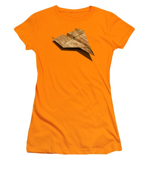 Paper Airplanes Of Wood 5 Women's T-Shirt (Junior Cut) by YoPedro