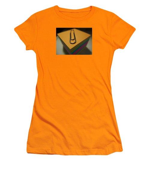 Paperwork Women's T-Shirt (Junior Cut) by John Rossman