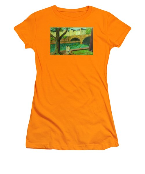 Women's T-Shirt (Junior Cut) featuring the painting Paris Rubbish by Paul McKey