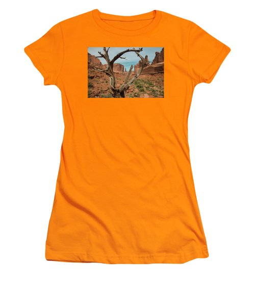 Women's T-Shirt (Athletic Fit) featuring the photograph Park Avenue by Gary Lengyel