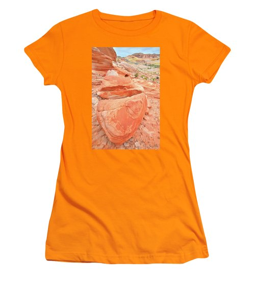 Women's T-Shirt (Junior Cut) featuring the photograph Park Road View In Valley Of Fire by Ray Mathis